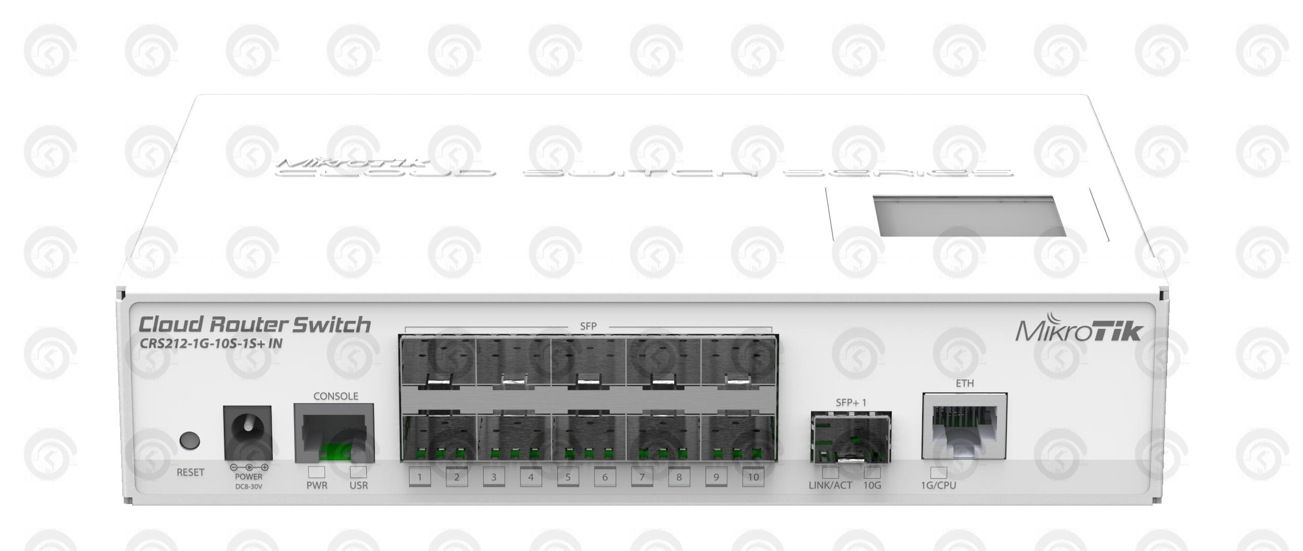Коммутатор Mikrotik CRS212-1G-10S-1S+IN управляемый