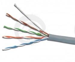 FTP 4 пары Кат.5e 100МГц, одножильный, BC (чистая медь), 24AWG (0,50мм), внутренний, PVC нг(А), серый, 305м NIKOLAN