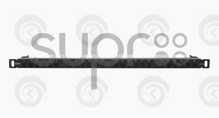 """Патч-панель высокой плотности 19"""", 24хRJ-45, UTP, Cat.5e, 0,5U"""