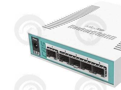 Коммутатор Mikrotik CRS106-1C-5S управляемый