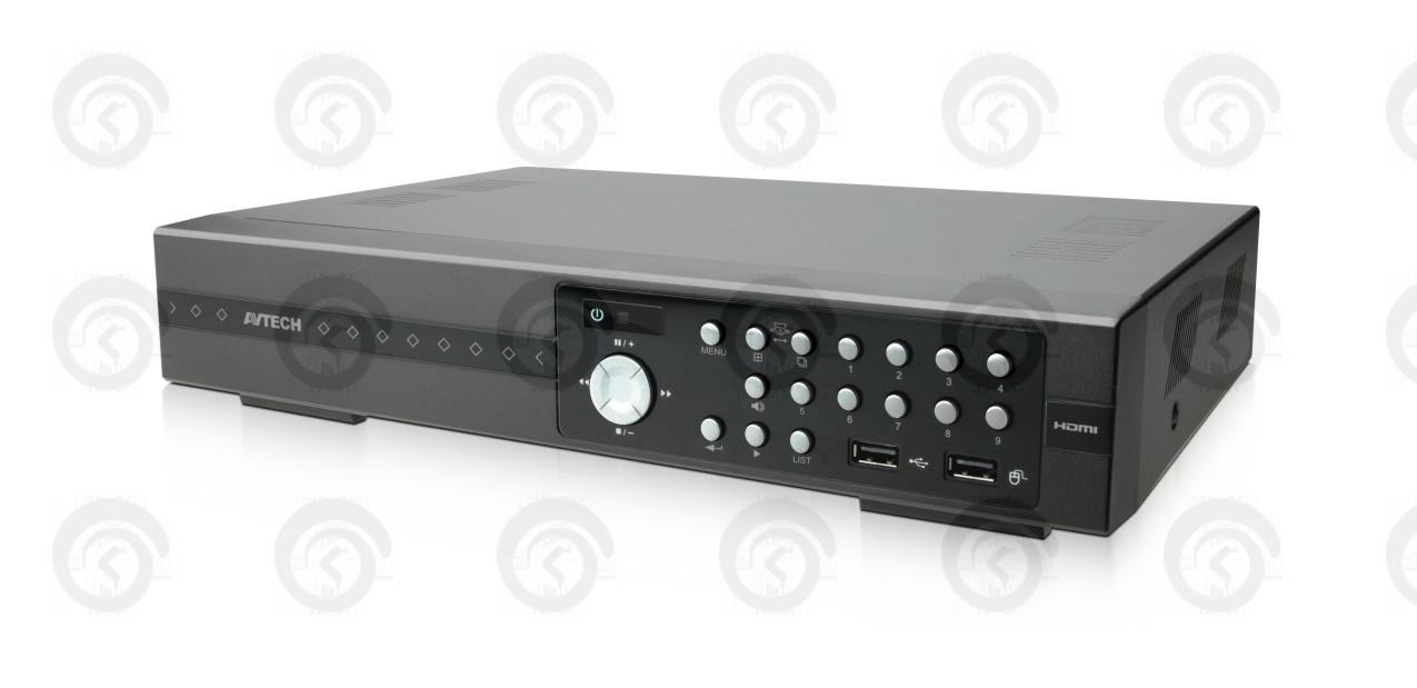 Видеорегистратор AVTech AVZ-308 с поддержкой IP, АНАЛОГОВЫХ, TVI и CVBS КАМЕР