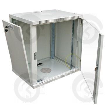 Шкаф настенный 19, 9U  Ш600хГ650 Стекло
