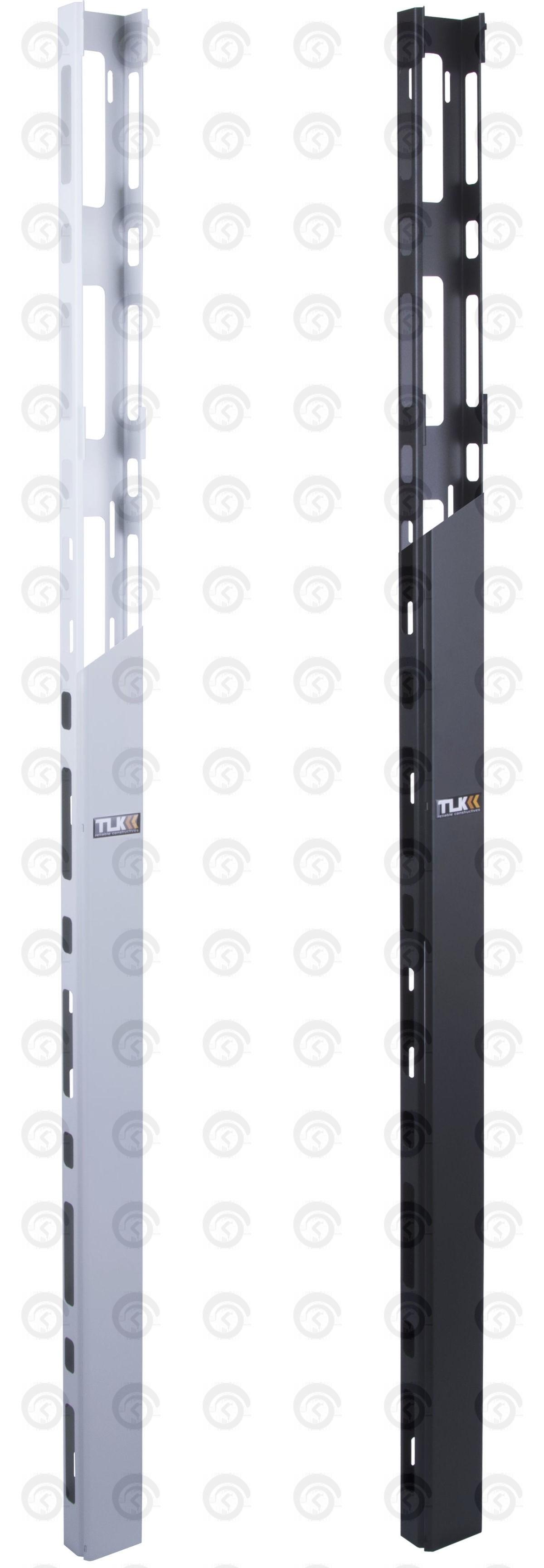 Органайзер кабельный вертикальный, 33U, для шкафов шириной 800мм серий TFR, TFL и TFE, Ш93хВ1470хГ58мм, металлический, с крышкой, с крепежом, цвет серый