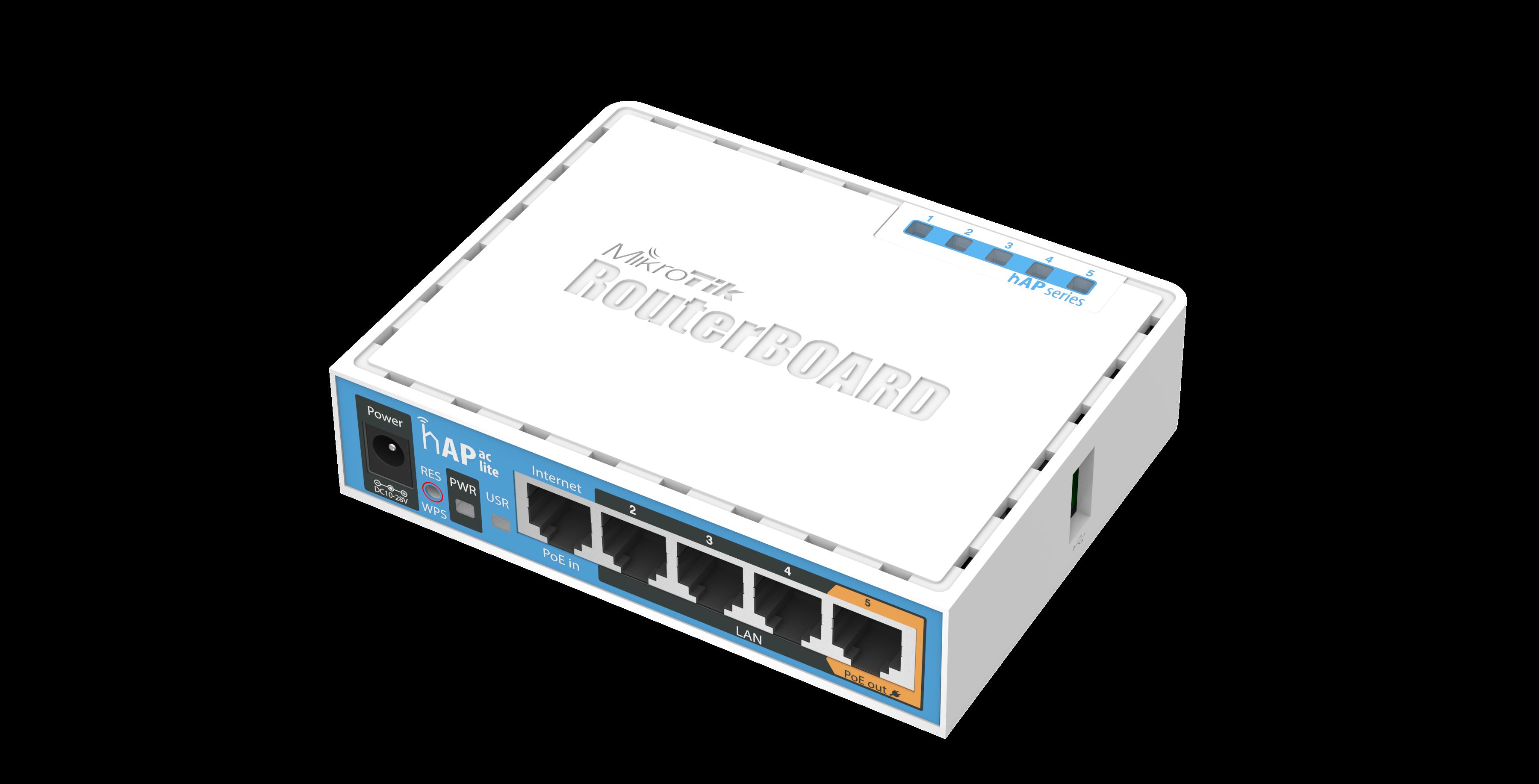 Mikrotik  hap AC lite (952Ui-2nD) Беспроводной маршрутизатор 2,4Ггц+5Ггц