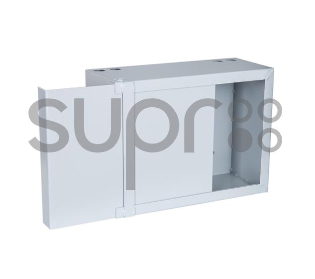 Шкаф настенный антивандальный пенальный SUPRLAN АП-400-В (1,2мм) с планкой
