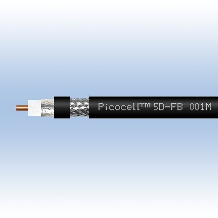 Кабель 5D-FB PVC (черный) (1м)
