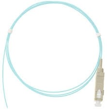Патч-корд оптический, многомодовый 50/125мкм, стандарта OM3, SC/UPC, LSZH нг(A)-HFLTx, 0.9мм, аква, 1м, уп-ка 2шт.