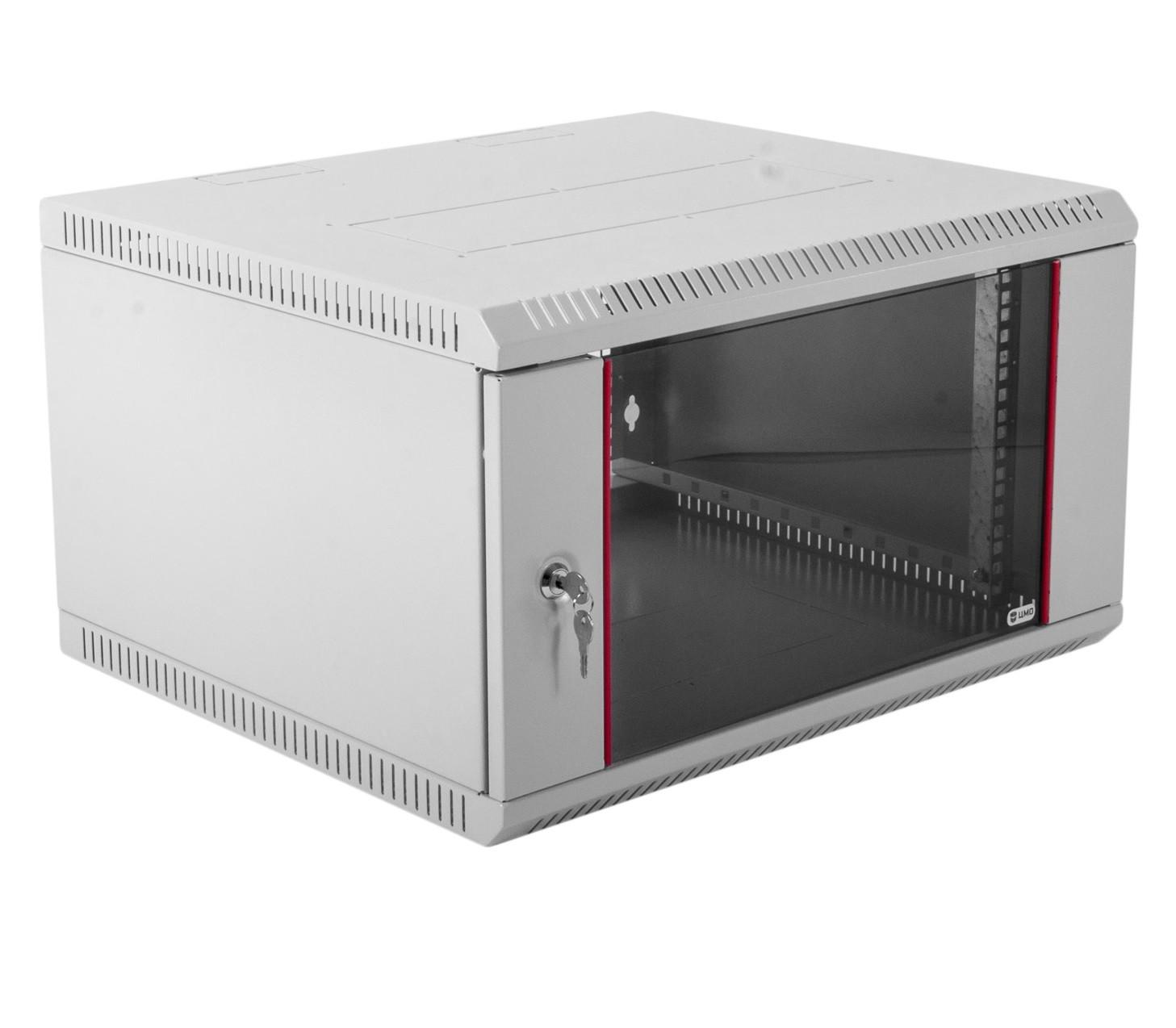Шкаф настенный 19, 6U Ш600хГ650 Стекло
