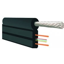 ВОК 04 волокна FTTH кабель 657А1 усиленный 2мя стеклопрутками и тросом