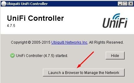 Установить UniFi Controller