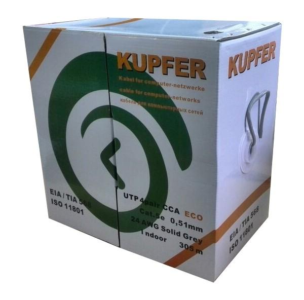 UTP 4pair CAT5E CCA Solid 0,51 мм indoor KUPFER ECO