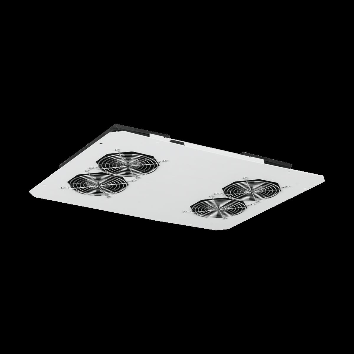 Вентиляторный блок TLK для напольных шкафов серий TFR, TFL, 4 вентилятора, нижние решетки пластиковые с фильтром, без шнура питания